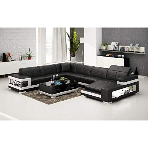 Winpavo Sofas & Sofas Sofa Corner Sofa Set Italienische Art Couch Wohnzimmer Leder Ecksofa-EIN