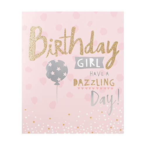 Birthday Girl Card from Hallmark - Fun Glitter and Foil Design