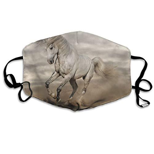 Geweldige schoonheid wit paard Unisex volledige dekking buis gezicht masker Bandanas UV bescherming nek Gaiter hoofdband