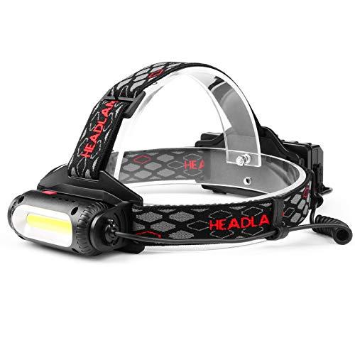 Jayol ヘッドライト 充電式 LED ヘッドランプ 超高輝度 5000ルーメン 360度回転 COB搭載 電量表示 8-10時間連続点灯 8種モード 防水 軽量 ヘルメットライト 防災 登山 夜釣り 作業 キャンプ 散歩