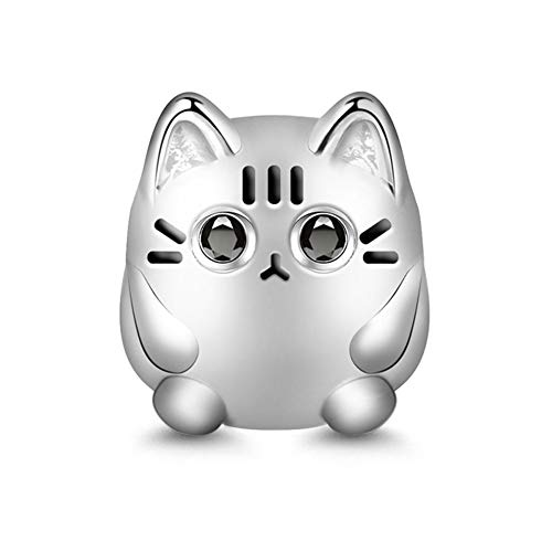 GNOCE Katze Charm Bead S925 Sterling Silber