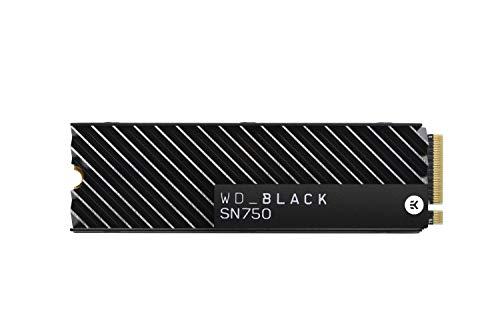 WD Black SN750 High-Performance NVMe Internal Gaming SSD with Heatsink, 1 TB