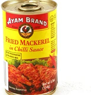 Fried Mackerel in Chili Sauce - 5.5oz (Pack of 6) by Ayam