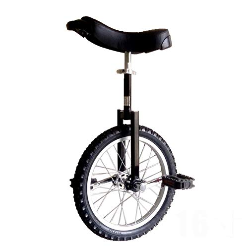 """HWF 18"""" Wheel Unicycle with Alloy Rim, Adjustable Bike Cycle Balance for Beginner Kids/Boys/Girls, Best Birthday Gift, 4 Colors Optional (Color : Black)"""