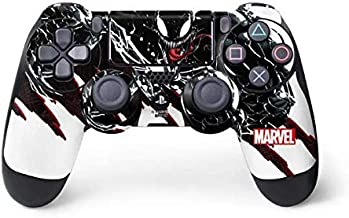 Skinit Decal Gaming Skin for PS4 Controller - Officially Licensed Marvel/Disney Venom Slashes Design