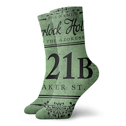 N\A Der Name 'S Sherlock Holmes Kissen Kissenmalerei Klassiker Kompressionssocken Svetlana Novikova Athletic Long Crew Socken für Männer Frauen 30 cm