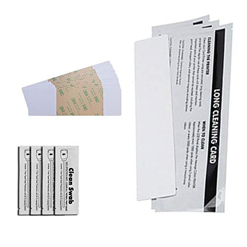 DuraClean DC-86177 ID Printer Cleaning Kit for Most Fargo Card Printers. 3 Long Cleaning Cards, 10 Adhesive Cleaning Cards & 4 Cleaning Swabs.