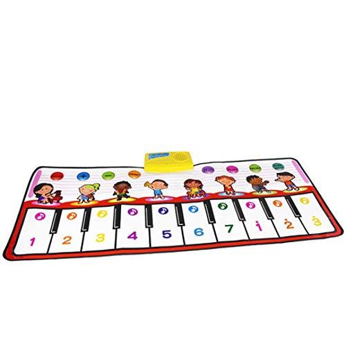 SPFAZJ Pianoforte elettronico, Tutela Ambientale, Tappeto Multifunzione per Giochi Musicali per Bambini, Coperta per Neonati con Istruzioni per l'infanzia