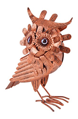 Hedwig, die Eule im Kupfer Look, Dachrinnen Vogel f. Zaun, Geländer, Dachrinne
