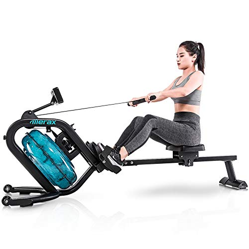 Merax Water Rowing Machine – Fitness Indoor Water Rower...