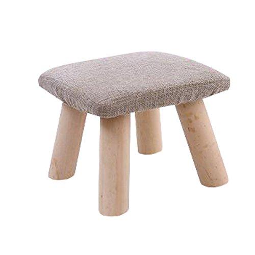 Durable Hocker Fußbank Sitzbank Fußstütze osmanisch Abnehmbare Abdeckung, 4 Beine, B