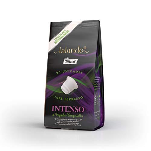 Toscaf 70232 Cápsulas Compostables Intenso Compatibles Nespresso 20 Unidades, 104 g