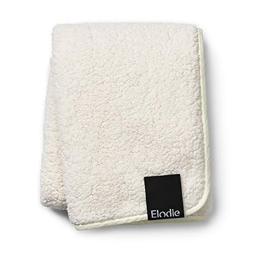Elodie Details Babydecke aus Oeko-Tex Pearl Velvet extra Weich 75 x 100 cm - Shearling, Weiss