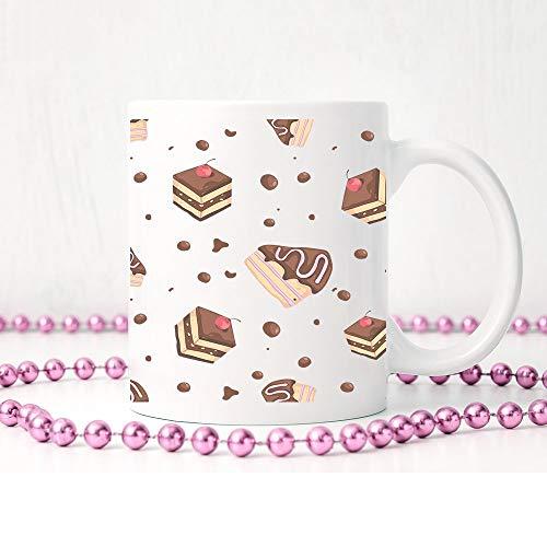 Tasse für Schokoladenkuchen, Kaffeetasse, süße Tasse, Kuchenliebhaber, Geschenk für sie, Geschenk für ihn, Keramiktasse, Teetasse, Kaffeetasse, Geschenkideen