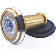 New 200 Degree Peephole Wide Angle Door Viewer (Gold)