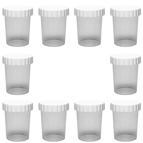 10 x kleine Dose 50 ml Becher aus Kunststoff mit Schraubverschluss Tiegel Lebensmittelecht BPA-frei