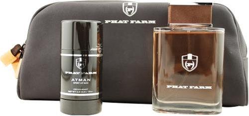 Atman Spirit Of Man by Phat Farm For Men. Set-edt Spray 3.4-Ounces & Deodorant Stick 2.6-Ounces & Toiletry Bag