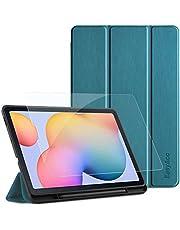 EasyAcc Funda Compatible con Samsung Galaxy Tab S6 Lite 10.4 + Protector de Pantalla, Ultradelgada Carcasa Compatible con Galaxy Tab S6 Lite 10.4 Pulgadas 2020 Tableta, Azul eléctrico