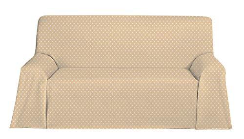 Martina Home Candy Star Foulard Multiusos, Tela, Beige, 230 x 270 cm