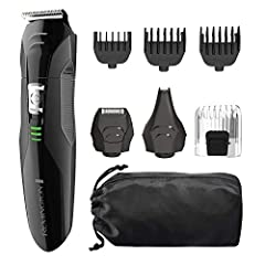 14 Settings for All Your Grooming Needs Full Size Trimmer; Nose, Ear, & Detail Trimmer; Detail Shaver; 8 Length Hair Clipper Comb; 3 Snap On Beard and Stubble Combs Self Sharpening, Surgical Steel Blades for Long Lasting Precision and Durability Cord...