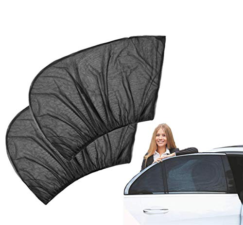 Car Sunscreen Curtains, Universal Side Window Sunshades, Breathable Mesh Heat-Insulated Anti-Mosquito Window Shades