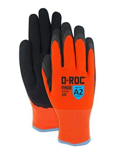 Magid Safety Hi-Viz Waterproof Thermal Nitrile Coated Acrylic Work Gloves - Size 8 (1 Pair)