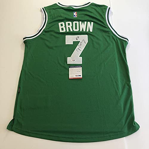 Jaylen Brown signed jersey PSA/DNA Boston Celtics Autographed Green - Autographed NBA Jerseys