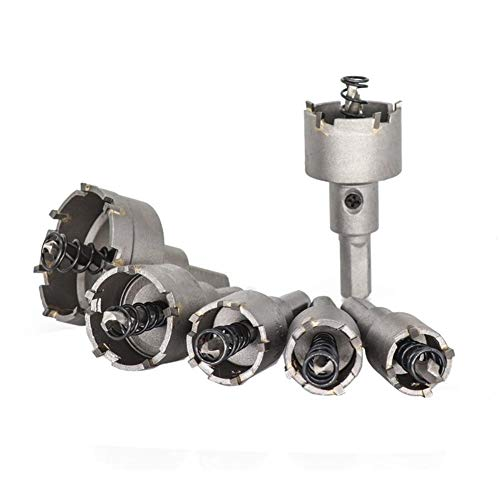 SHENYUAN 10pcs 16-50mm Hole Saw Drill Bit Set Carbide Tipped Hole Saw Cutter for Drilling Wood/Metal TCT Drill Bit Core Drill Bit