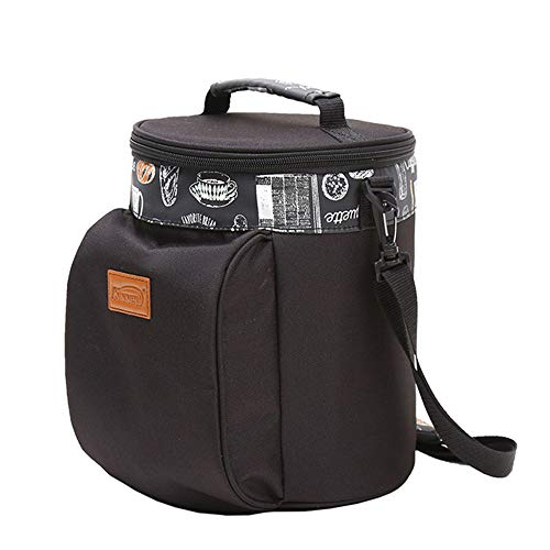 Outdoor mountaineering bag Épaissi Sac Isolant en Tissu Oxford, Grand Sac d'isolation du Papier d'aluminium boîte à Lunch boîte à Lunch pour Garder Le Sac Froid 6L, adapté pour 1-3 Personnes