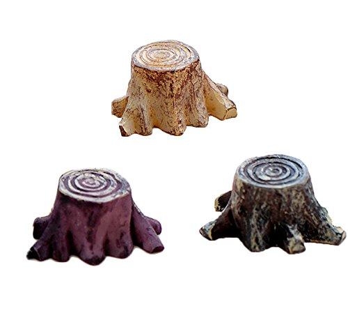 3PC Jardin souche d'arbre Base Mini Résine Crafts Fairy Garden miniatures Terrarium Micro Paysage DIY Accessoires Décoration de la Maison