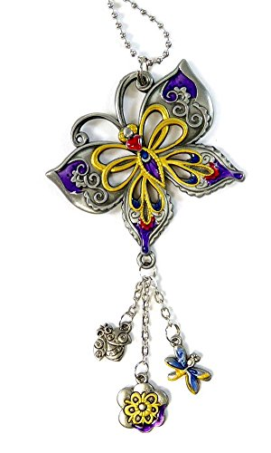 10 best rear view mirror charms butterfly for 2020