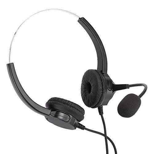 FOLOSAFENAR Práctico Auricular biauricular Ligero para Centro de Llamadas, para Servicios de Asesoramiento telefónico