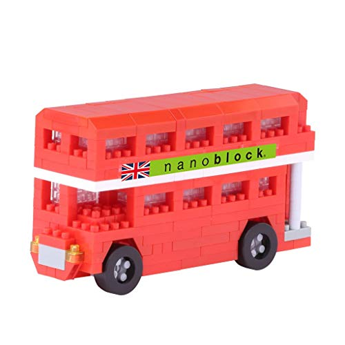 nanoblock NBH-113 - London Bus, minibouwsteen 3D-puzzel, Sights to zee serie, 300 delen, moeilijkheidsniveau 3, zwaar