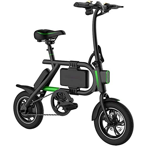 Best Review Of RXRENXIA Electric Bike,with LED Lighting Travel Pedal Small Battery Car Aluminum Alloy Frame Two-Wheel Mini Pedal Electric Car for Adult Outdoors Adventure