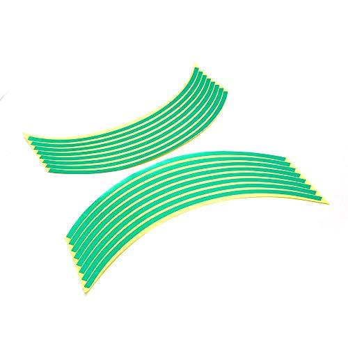 PUXINGPING- Rueda de la Motocicleta stickersr Reflectante Lamer Colorido de Gaza for Suzuki (Color : Green)