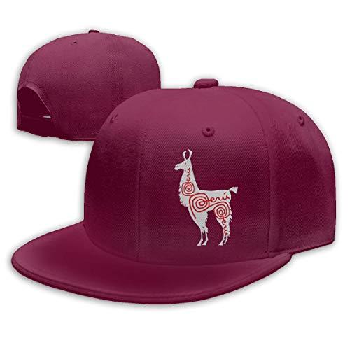 DAIAII Hombre Mujer Gorras de béisbol, Alpaca Peru Mens Womens Adjustable Plain Baseball Cap Hip Hop Hats