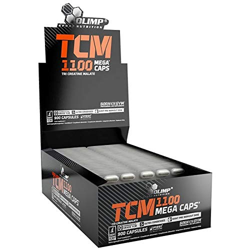TCM - Tri Creatine Malate | Bodybuilding Pills for Muscle Mass Growth | Anabolic and Anticatabolic | Blisters Only - No Box (150 Capsules)