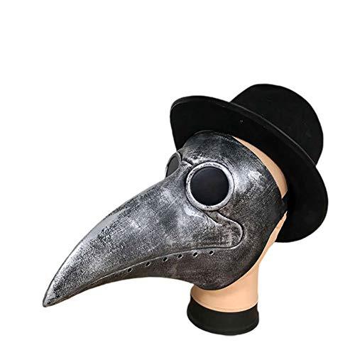MINI Boutique Máscara de doctor de la plaga disfraz retro steampunk nariz larga pico de pájaro para Halloween Cosplay Party Props