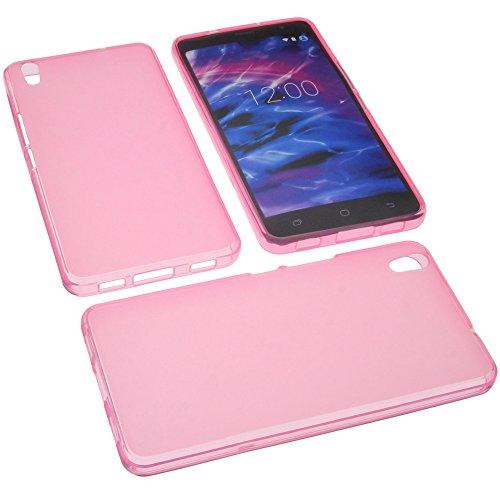 foto-kontor Tasche für MEDION Life S5504 Gummi TPU Schutz Handytasche pink