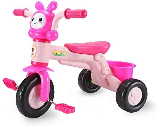 WLD kinderen 'S training voertuig frame kinderwagen pedaal auto baby ride fiets licht met emmer achter muziek voor kinderen 2 kleuren opties Roze