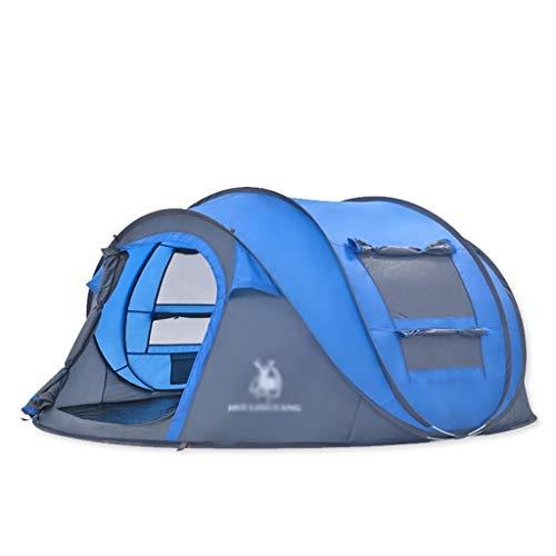 Utilisation Multiple Sports de Plein air Tente Camping épais Pluie de Vitesse Automatique Open Home Outdoor Mesh Ventilation Intérieur Tente Pliante Équipement d'extérieur (Color : Blue)