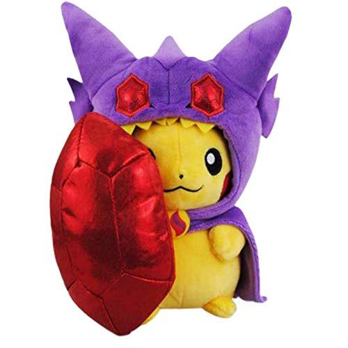 XINRUIBO Füllen Pokemon Pikachu weiche Puppe Cartoons Anime Ornamente Geburtstag Geschenke, die Kinder Begleiten Glücklich Spielen 20Cm Pikachu Kuscheltier