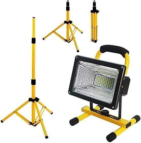 Foco Led Bateria Light LED Light LED Luces de Trabajo | 300W 6000 LM Flootlight móvil con trípode | 4 Modo Brillo, Lámpara de Luces de Trabajo de trípode telescópico de Metal LQHZWYC