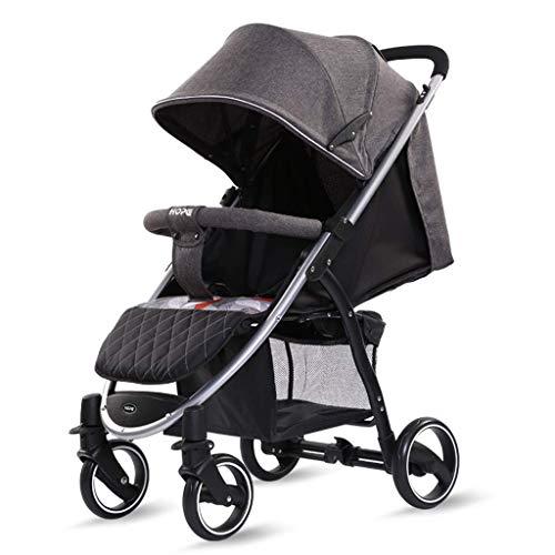 AYDQC Cochecito de Amortiguador para niños, de 0 a 4 años Puede Usar el Cochecito de bebé, Puede Sentarse y acostarse, Soporte de Tablero Duro, Puede Llevar 25kg, Plegable de una tecla fengong