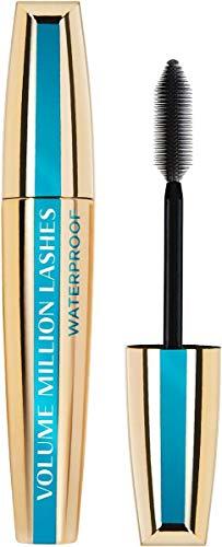 L'Oréal Paris Wasserfeste Mascara, Schwarze Wimperntusche für extra Definition und extra Volumen, Volume Million Lashes Waterproof, Nr. 00 Waterproof Schwarz, 1 x 9,4 ml