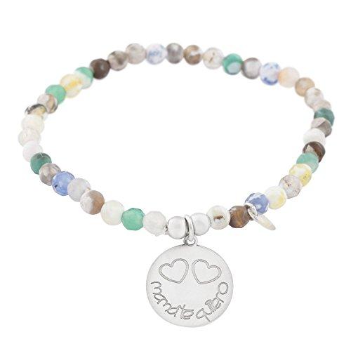 Córdoba Jewels | Pulsera en Plata de Ley 925 con diseño Mamá te Quiero Colors