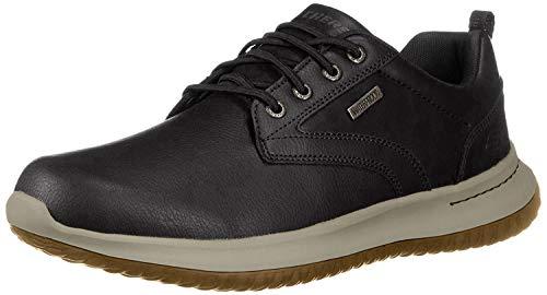 Skechers Zapatos de Cordones Oxford para Hombre, Negro