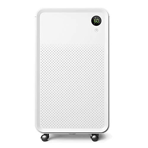 LUKO 12L elettrico e portatile deumidificatore con tecnologia silenziosa, serbatoio 2L con tubo di scarico, filtro lavabile e purificazione dell'aria per casa, camera da letto, cantina, bagno, armadio