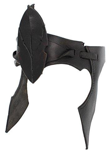 Elfen-Stirnband aus Leder Schwarz oder Braun LARP Fantasie Cosplay (Braun)