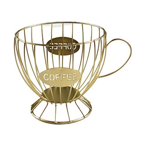 KLOVA Koffie Capsule Cup Geweven Ijzerdraad Holle Opslag Frame Fruit Snack Mand Elegante Picknick Lade Drogen Voedsel Stofpan